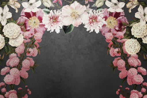 Foto-tapeta z kwiatami w różowej tonacji