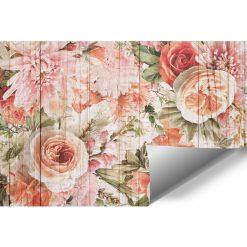 Foto-tapeta z motywem kwiatowym w tonacji różu