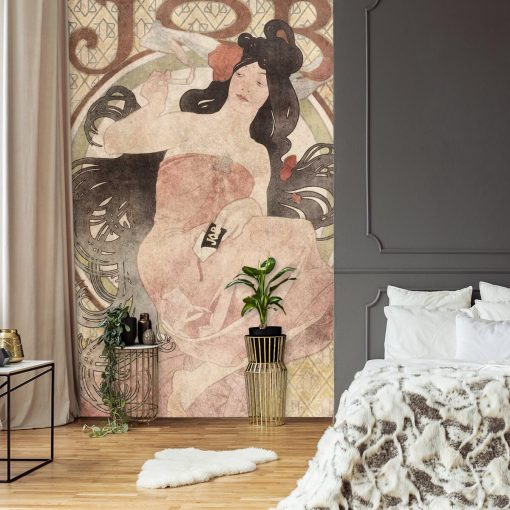 Foto-tapeta z reprodukcją reklamy papierosów do sypialni