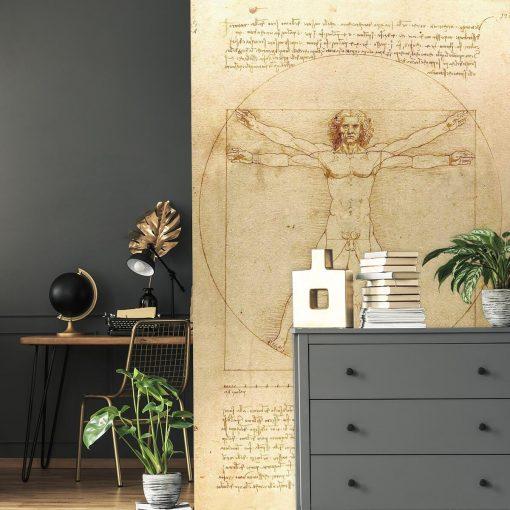 Foto-tapeta z reprodukcją rysunku Leonarda da Vinci do biura