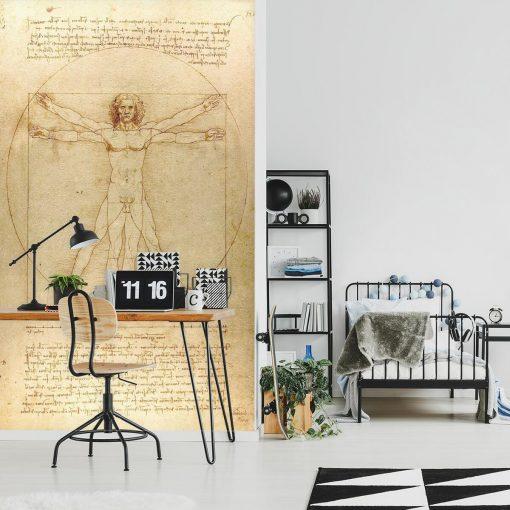Foto-tapeta z reprodukcją rysunku Leonarda da Vinci do pokoju