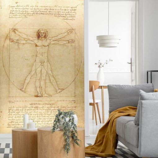 Foto-tapeta z reprodukcją rysunku Leonarda da Vinci do sypialni