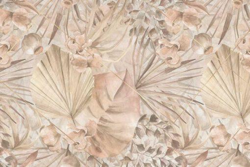 Fototapeta boho - Egzotyczne liście do przedpokoju