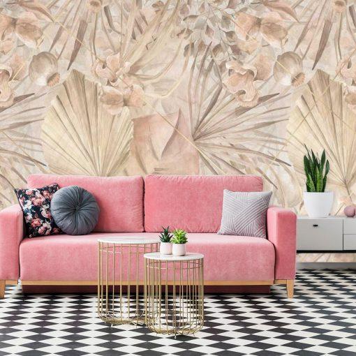 Fototapeta boho - Egzotyczne liście do salonu
