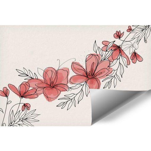 Fototapeta z kwiatami w kolorze różu
