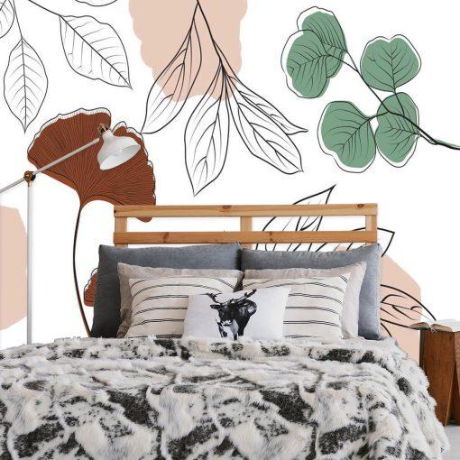 Fototapeta z motywem roślinnym do dekoracji salonu