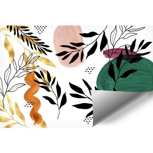 Kolorowa tapeta z roślinami