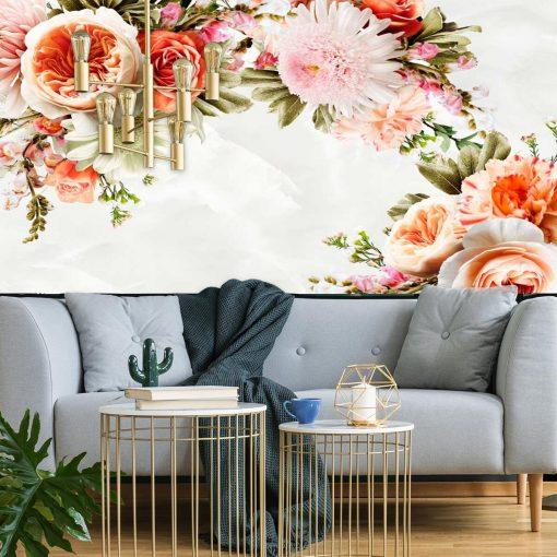 Kwiaty dekoracyjne na tapecie