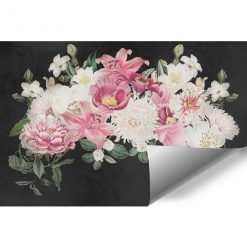 Kwiaty na tapecie w pastelowych kolorach