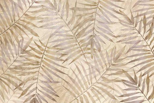 Orientalna tapeta - Beżowe liście