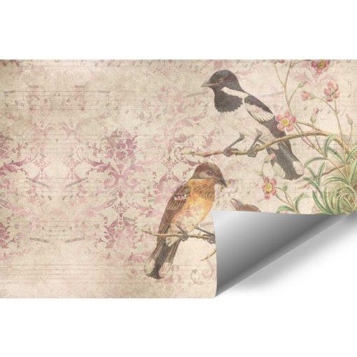 Subtelna fototapeta - Ptaki na drzewie do przedpokoju