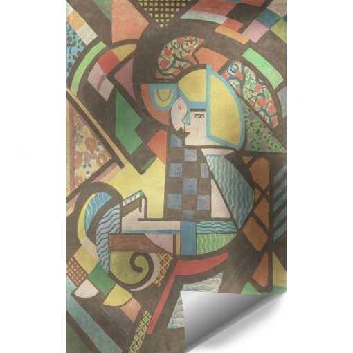 Tapeta z abstrakcyjnym obrazem Córka w kołysce