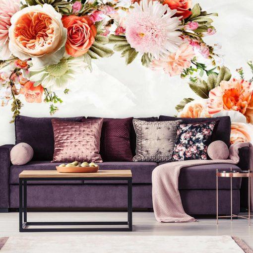 Tapeta z florą dekoracyjną