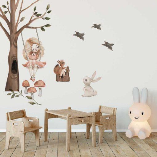 Zestaw naklejek z króliczkiem dla przedszkolaka