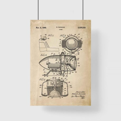 Patent na syrenę - Plakat do przedpokoju