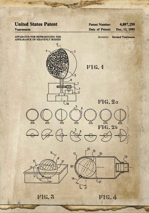 Plakat aparat do badania rucuhu ciał niebieskich