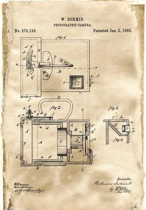 Plakat dla fotografa - Patent na aparat fotograficzny