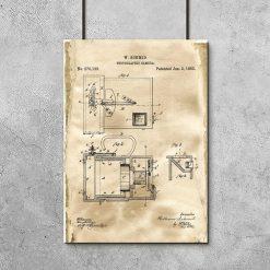 Plakat dla fotografa - Patent na aparat fotograficzny do gabinetu
