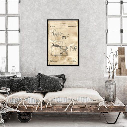 Plakat dla fotografa - Patent na aparat fotograficzny do sypialni