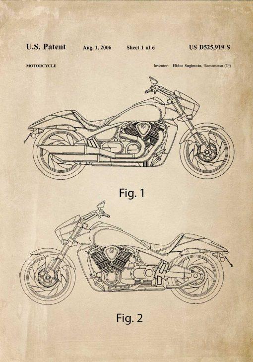 Plakat japoński motor z 2006r.