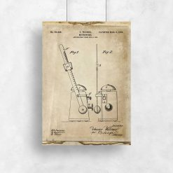 Plakat retro z 1904r. - patent na metronom