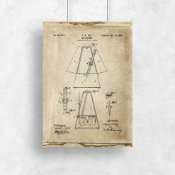 Plakat schemat budowy metronomu do powieszenia w szkole