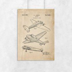 Plakat vintage z samolotem z 1934r.