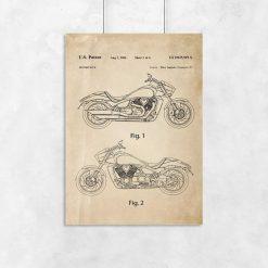 Plakat z atestem na konstruowanie motocykla