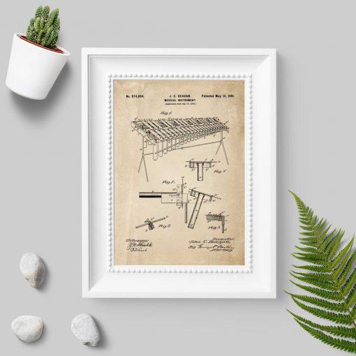 Plakat z instrumentem muzycznym do sypialni