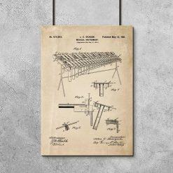 Plakat z instrumentem muzycznym na prezent