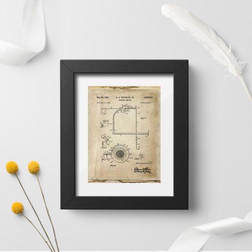 Plakat z kołowrotkiem - wynalazek z 1951r.