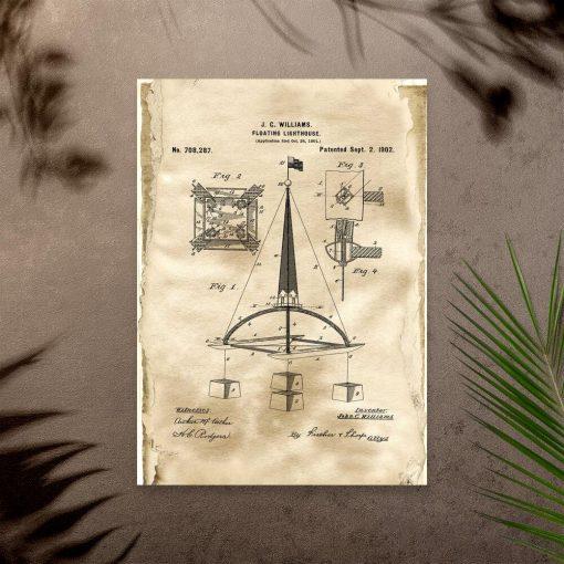 Plakat z koncepcją budowy boi wodnej