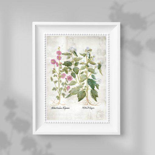 Plakat z motywem pastelowych kwiatuszków