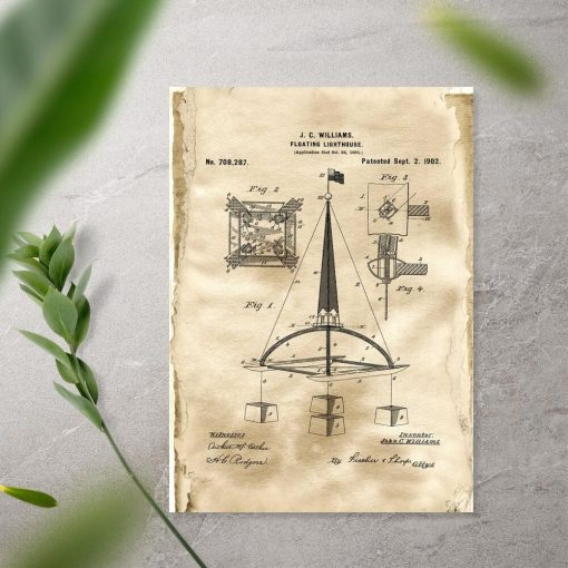 Plakat z patentem na bojkę morską - 1902r.