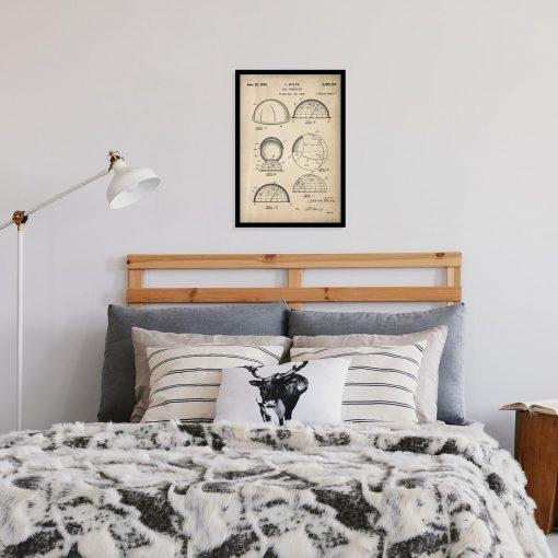 Plakat z patentem na urządzenie do rozpoznawania gwiazd do sypialni