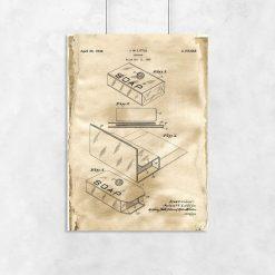 Plakat z patentem - Pudełko na mydło do łazienki