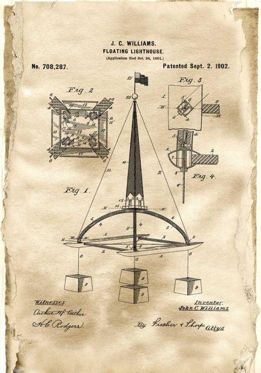 Plakat z prototypem boi morskiej