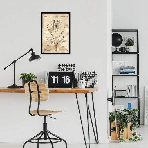 Plakat z rysunkiem patentowym - Stetoskop do biura