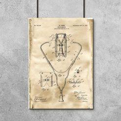 Plakat z rysunkiem patentowym - Stetoskop do gabinetu lekarskiego