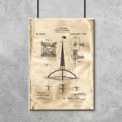Plakat ze schematem budowy pławy wodnej
