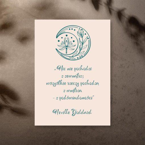 Plakat ze słowami Neville Goddarda