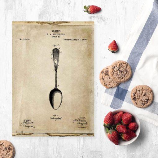 Poster z patentem na łyżkę do dekoracji jadalni