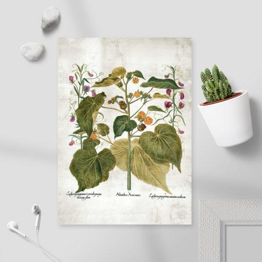 Rustykalny plakat - zaślaz i inne rośliny