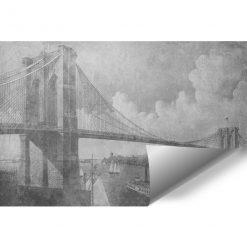 Fototapeta z mostem brooklińskim do salonu