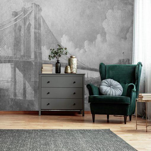 Fototapeta z mostem brooklińskim do sypialni