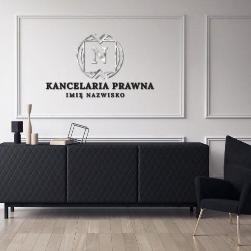 Kancelaria prawna - logo 3d z literką