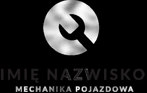 Logo 3d z kluczem dla mechanika