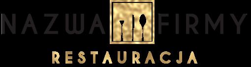Logo 3d ze sztućcami dla restauracji