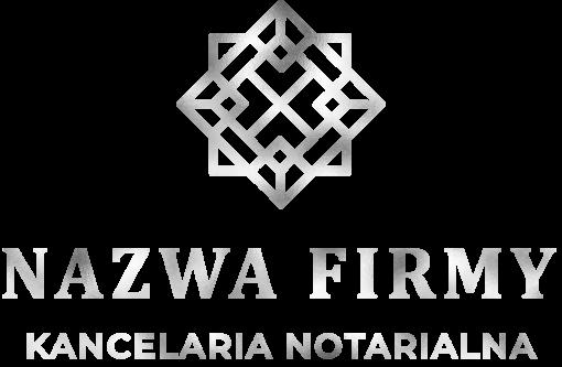 Logotyp 3d dla notariusza - z abstrakcyjnymi kwadratami