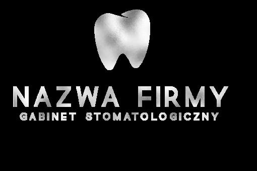 Logotyp 3d do gabinetu stomatologicznego z zębem